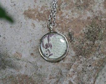 Alice in Wonderland and the Cheshire Cat Resin Pendant Necklace