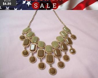 SALE 60% Off vintage bib necklace, statement necklace