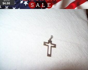 SALE 60% Off Vintage goldtone cross signed 74, cross pendant