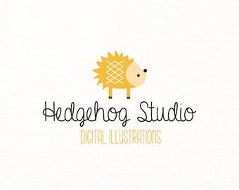 hedgehog logo kids children premade animals woodland forest nature - Logo Design #413