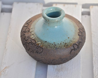 Ceramic vase, pottery vase,  bud vase, flower vase, rustic vase