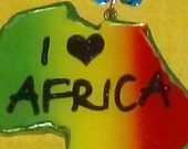 The Royal Touch I Love Africa Continent Pendant