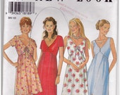 FF 1990s V-neck Dress Vintage Sewing Pattern - New Look 6394 - Size 8-18, Bust 34-36-38-40-42-44 UNCUT