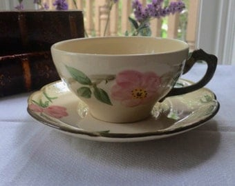 Desert Rose Francisan USA Teacup and Saucer Set