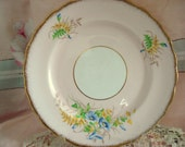 Vintage Luncheon Plate Rosina Fine Bone China England Pink Floral Luncheon Salad Tea Plate Shabby Chic Vintage Wedding