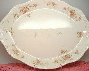 Antique Vintage Platter Etruria-Mellor Cook Pottery Floral Platter Shabby Cottage Chic Large Platter Vintage Wedding