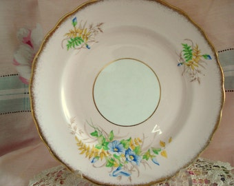 Vintage Luncheon Plate Rosina Fine Bone China England Pink Floral Luncheon Salad Tea Plate Shabby Chic