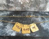 18k gold plated charm necklace