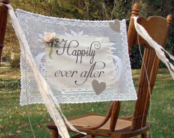 Wedding Banner, Happily Everafter,  Blush Pink, Vintage Inspired, Wedding Bunting, Banners, Bunting, Wedding Garland, Wedding Decoration