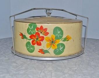 Carlton Cake Carrier ~ Vintage Cake Carrier ~ Metal Cake Carrier ~ Vintage Kitchen ~ Epsteam