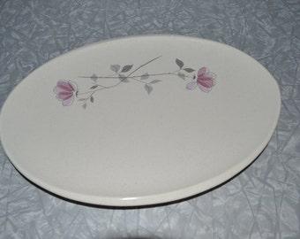 Franciscan Duet Oval Platter ~ Franciscan Platter ~ Mid Century Serving ~ Pink Gray Platter ~ Atomic ~ Eames ~ Epsteam