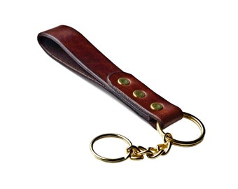 Customizable Leather Keychain - Third Anniversary Gift - Accessories - Best Man Gift - Leatherwork - Gift Box Included