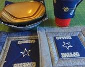 Dallas Cowboys Coffee Cozy set of 2 for Alexandra