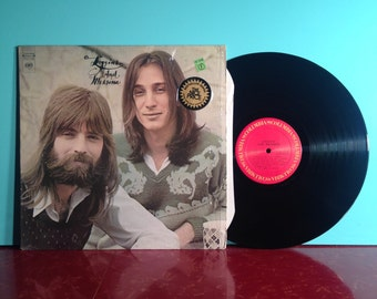 LOGGINS And MESSINA Self Titled Vinyl Record Album LP 1972 In Shrink With Sticker Classic Folk Rock Pop Music Near Mint Condition Vintage