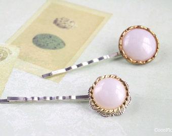 Pearl hair pins, Wedding set of 2 pins, Decorative Button Hair Pins, Cute bobby Pins, Retro Hair Jewelry, Women Accessories, Antique button
