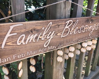 Family Birthday Board, Family Celebration Board, Special Dates, Calendar Sign, Family Brag Board, Birthday Wall Hanging