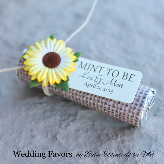 Sunflower Wedding Favor Ideas: Sunflower Wedding Favors With Personalized By