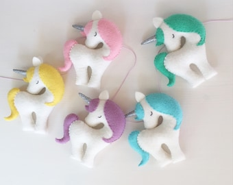 Rainbow Unicorn garland