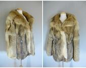 Vintage FUR COAT/size Medium-Large
