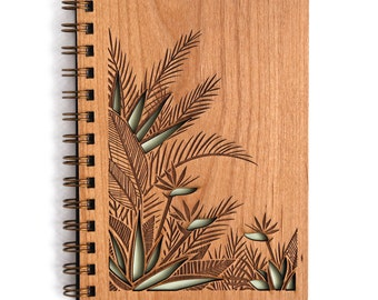 Birds of Paradise Wood Journal [Laser Cut / Notebook / Unique / for Her / Spiral / Blank Pages or Sheets]