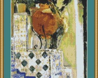 Detail Of The Garden Of The Sorolla House Cross Stitch Pattern