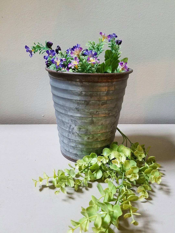 galvanized metal vase planter farmhouse