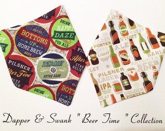 Dog Bandana/ over collar bandana/beer dog bandana/bandana/summer dog bandana/ vintage beer bandana/ pet scarf/puppy bandana/collar