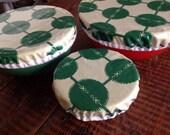 Reusable Bowl Cover Set Modern Geometric Print