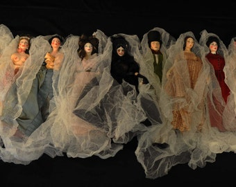 Anne Rice's Mayfair Witches, 14 OOAK Art Dolls, Spooky, Creepy, Horror Dolls, Hand Painted, Gothic