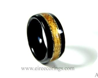 Wooden wedding band rings alternative Eco friendly wedding rings