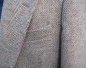 RESERVED for Tim Vintage Harris Tweed 42R Tall, Near New, herringbone, hues of Tan Beige Browns plus, sports jacket men 100% pure wool