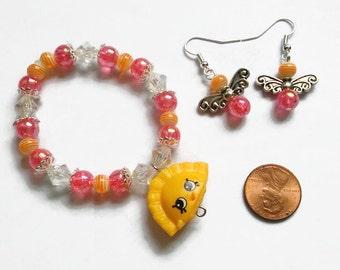 Shopkins Humpty Dumpling Charm Bracelet Set, Season 3, Shopkin Jewelry, Kawaii Jewelry, Costume Jewelry, Dress up jewelry, stocking stuffer