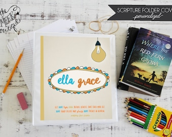 Personalized Scripture Folder Covers, Let Your Light So Shine, No. 1