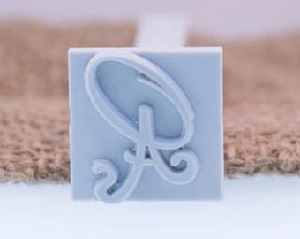 """Custom Stamp 25 X 25mm / 1"""" X 1"""" For PMC, Art Clay, Metal Clays, Polymer Clay, Fimo."""