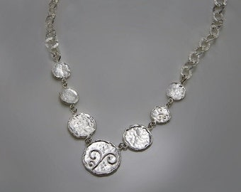 VALENTINE SALE 30% OFF Coins-Sterling Silver Necklaces Hammered Coins Necklaces
