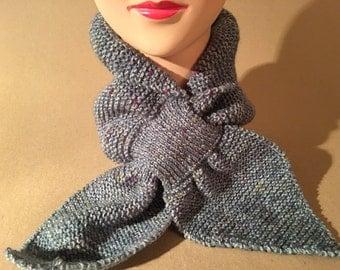 Vintage style knitted Miss Marple scarf