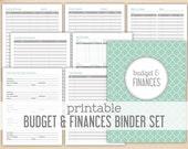 Printable Budget & Finances Binder Set - Financial Printables