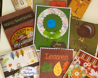 Huge Sale - Handmade cards - Thankful - Thanksgiving - autumn cards - turkey - Grateful - celebrate - huge sale - cards on sale - fall sale