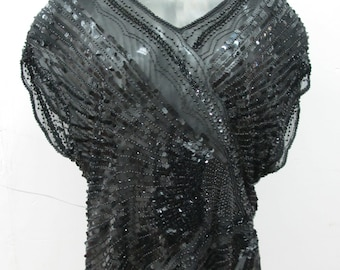 Oleg Cassini Sequined top 1960s style