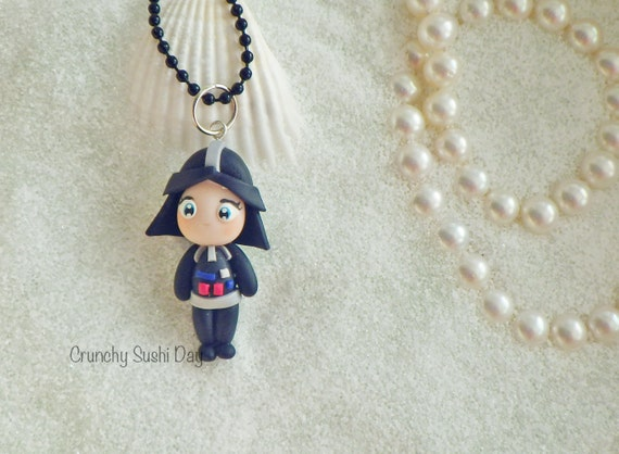 Darth Cutie Necklace, Darth, Polymer Clay Pendant, Star Wars Necklace, Cosplay, polymer clay, clay pendant, Kawaii, Chibi, Necklace