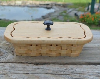 wooden pen pencil business card basket with lid Maple wood