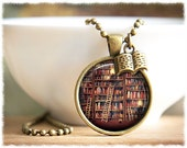 Book Necklace • Book Lover Jewelry • Writer Necklace • Gift For Reader • Literary Gifts • Book Pendant