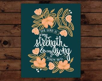 Psalm 118:14 Print