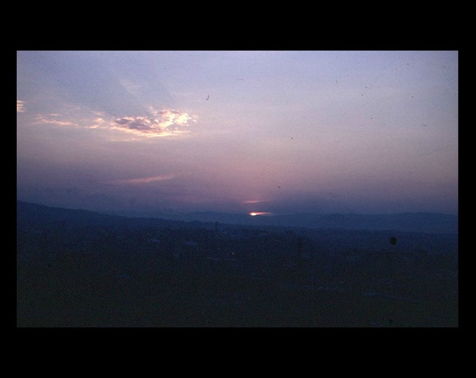 Barcelona Sunset 1959: 35 mm Slide/Transparency, Kodachrome Vintage Snapshot (6116-14)