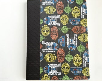 Star Wars composition notebook, journal,smash book with Character text art