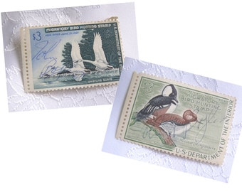 2 Vintage Duck Stamps - 1966/67 and 1968/69 Migratory Bird Hunting Stamp