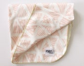 Swaddle Blanket in Pink Triangles