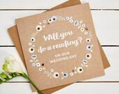 Will You Do A Reading Wedding Card