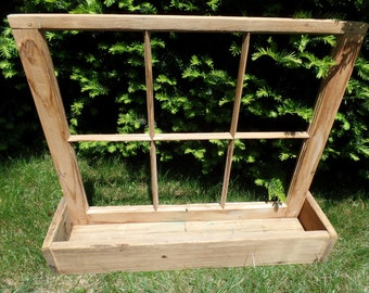 Antique Window Flower Box Natural wood
