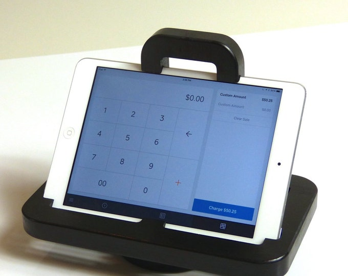 iPad mini - The LOCKIT Secure POS/Display Stand for iPad mini in BLACK - Swivel base